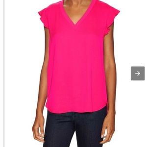 Kate Spade Crepe Flutter Sleeve Top. Size 1. NWT.